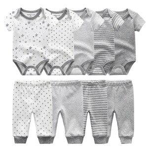 Image 1 - Body liso + Pantalones, conjunto de ropa para bebé de 0 a 12M, ropa para bebé (niño o niña), Unisex, bebé recién nacido, ropa de bebé de algodón