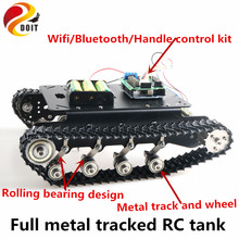 SZDOIT Wifi/Bluetooth/Handle Control Metal Tracked Tank Chassis Kit Shock Absorbing Crawler RC Robot 8KG Load DIY For Arduino(China)