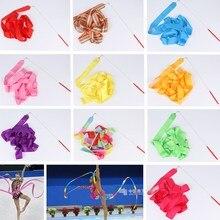 2 метра 4 м 6 м красочные ленты для спортзала танцевальная лента художественная гимнастика балетный стример крутящийся стержень Радужная палочка для тренировок