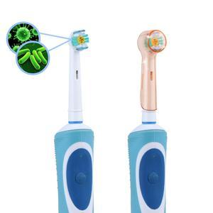 Image 4 - 4ชิ้น/ล็อตไฟฟ้าหัวแปรงสีฟันสำหรับOral B BraunหัวแปรงฟันTravelกันฝุ่นทำความสะอาดโปร่งใส