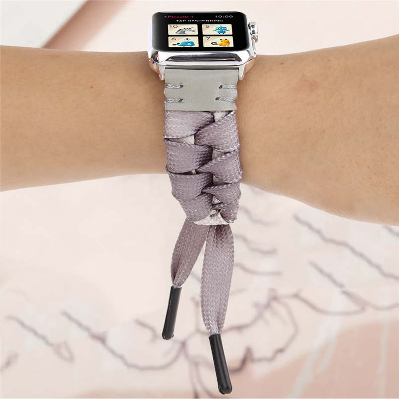 Woven mesh strap with high quality soft sports strap advanced woven strap replacement strap for apple watch 40mm 20O17 (13)
