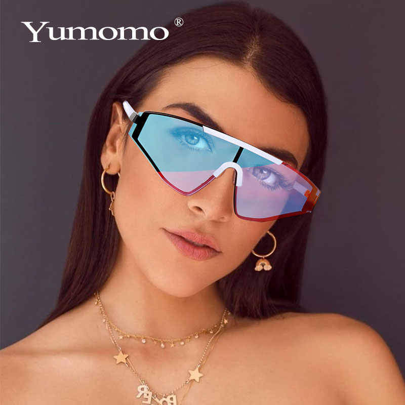 ใหม่Rimlessแว่นตากันแดดผู้หญิง 2020 Gradientแว่นตากันแดดรูปสี่เหลี่ยมผืนผ้าแฟชั่นแว่นตากันแดดยี่ห้อDesignerแว่นตาขนาดใหญ่