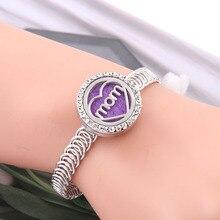 New Heart-shaped Aroma diffuser Bracelet Perfume Essential Oil Aromatherapy Lockets women men fashion jewelry