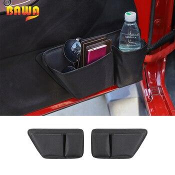Bolsa de almacenamiento de puerta de coche BAWA, accesorios organizadores para Jeep Wrangler JK 2011-2017, 2 bolsillos de almacenamiento de 4 puertas