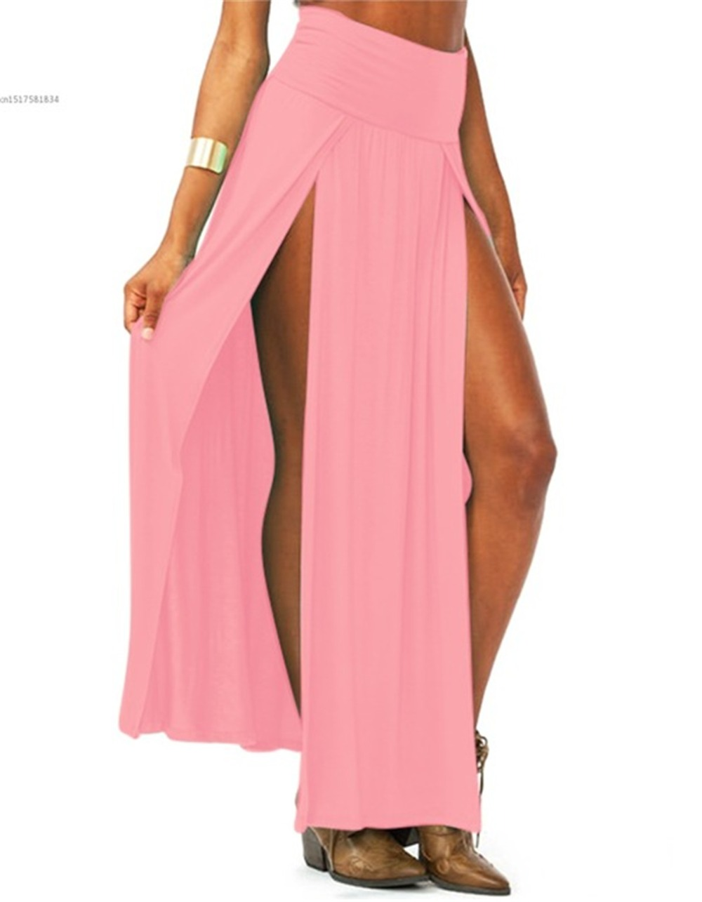 2019-New-Arrival-High-Waisted-Sexy-Womens-Double-Slits-Summer-Solid-Long-Maxi-Skirt-Wholesale-51.jpg_640x640 (4)