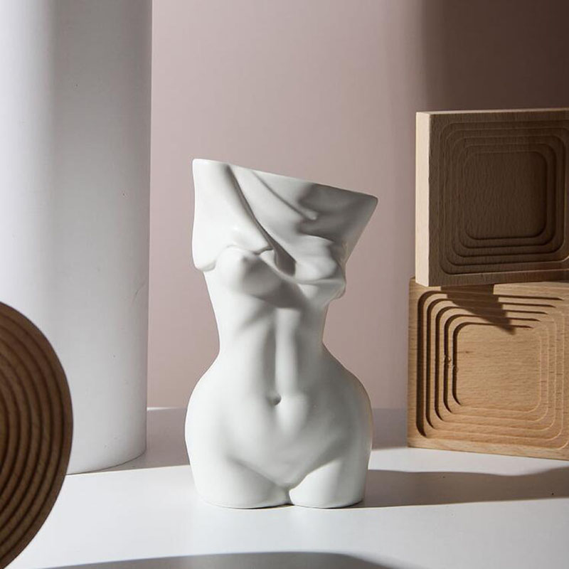 Ceramics Flower Vase Home Decor Vase Sculpture Nordic Decoration Home Flower Pots Decorative Female Body Art Vase Just6F