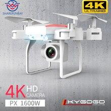 Ky606d 드론 4 k hd 항공 사진 1080 p 4 축 항공기 20 분 비행 공기 압력 호버 키 테이크 오프 rc 헬리콥터