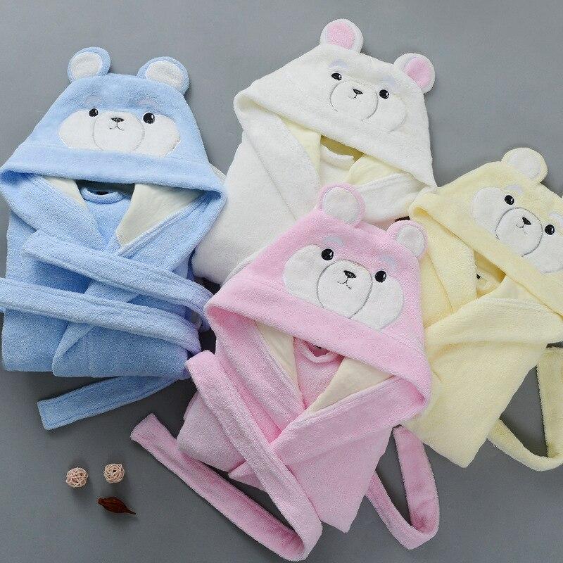 criancas roupao de algodao terry toweling robe 01
