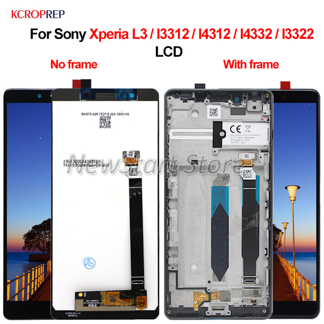 "For Sony Xperia L3 I3312 I4312 I4332 I3322 LCD Display Touch Screen Digitizer Assembly 5.7"" Replacement Parts For Sony L3 lcd"