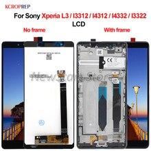 """Sony Xperia L3 I3312 I4312 I4332 I3322 LCD 디스플레이 터치 스크린 디지타이저 어셈블리 5.7 """"Sony L3 lcd 용 교체 부품"""