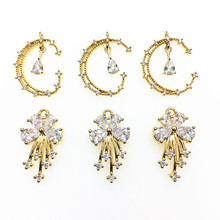 Charm Findings Jewelry-Accessories Necklace/earring New-Arrival for Diy-Parts Cubic-Zirconia