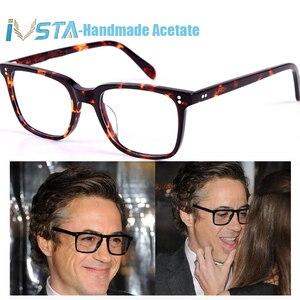Image 3 - IVSTA OV 5031 con il marchio NDG 1 Occhiali In Acetato Uomini Ottici occhiali Montatura Da Vista Occhiali Da Sole Polarizzati Occhiali Da Sole Quadrati di Marca di Lusso Scatola di Miopia