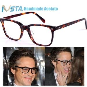 Image 3 - IVSTA OV 5031 with logo NDG 1 Acetate Glasses Men Optical Frame Prescription Polarized Sunglasses Square Luxury Brand Box Myopia