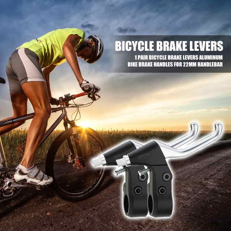 1 Pair Universal Hand Brake Levers for 22mm Clamp Bicycle Road Bike Silver