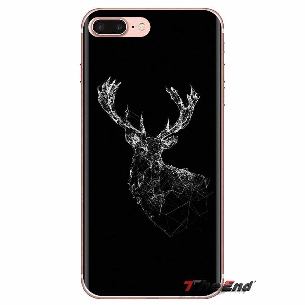 Minimalista animal cervos Para Huawei Companheiro Honra 4C 5C 5X6X7 7A 7C 8 9 10 8C 8X20 Lite Pro Macio Transparente Casos Covers