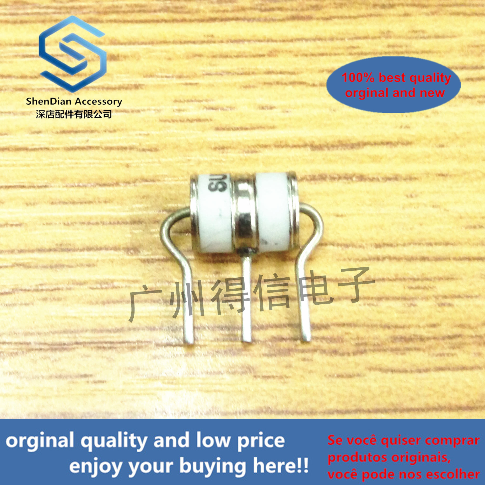 10pcs 100% Orginal NewSE33-150X 3R150 150V 6x8 Ceramic Gas Lightning Arrester Discharge Tube  Real Photo