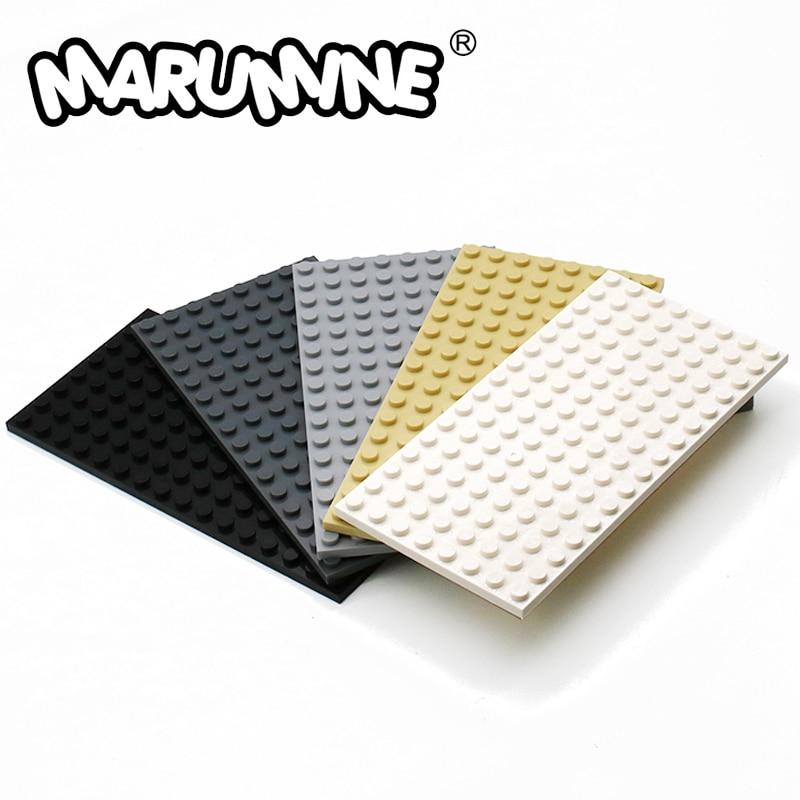MARUMINE 8x16 Dots Base Plate Particles Building Blocks 92438 Bricks Set DIY Classic Educational Toys For Boys Girls