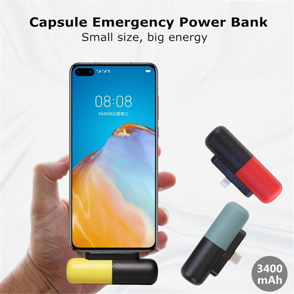 ZKFYS 3400mAh Cute Mini Power Bank For <font><b>iPhone</b></font> Xiaomi Portable Powerbank Travel Charging Pack PoverBank External <font><b>Battery</b></font> Charger image