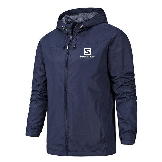 New Spring Jacket Men Hooded Zipper Waterproof Coat Windproof Solid Color Fashion Male Coat Outdoor Sportswear Bomber Coats 5XL 5