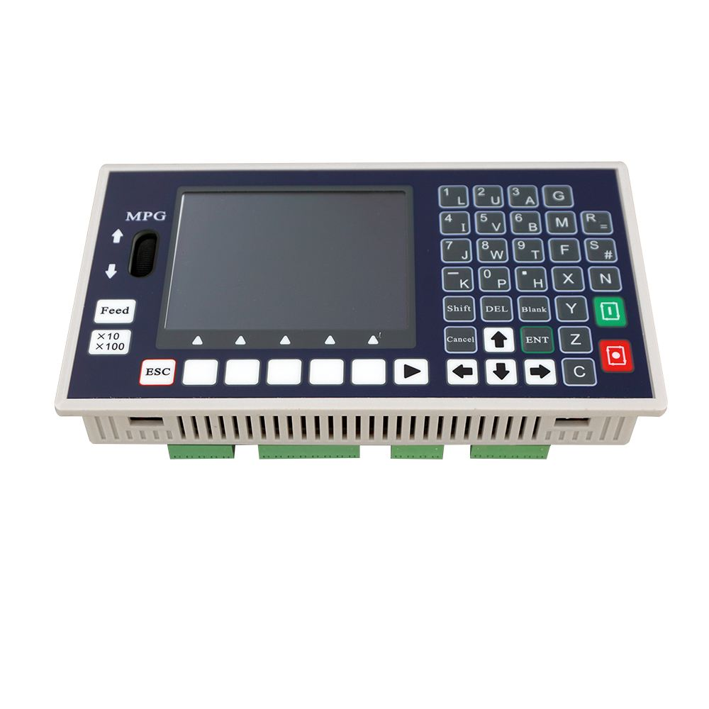 4-axis CNC Motion Controller TC55H Stand Alone Servo Stepper USB Spindle G Code 400KHz MPG With 3.5 Inch Color LCD
