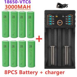 2/4/6/8pcs New original 3.7 V 3000 MAH 18650 battery for us18650 Sony VTC6 30A toys tools flashlight battery+USB Charger