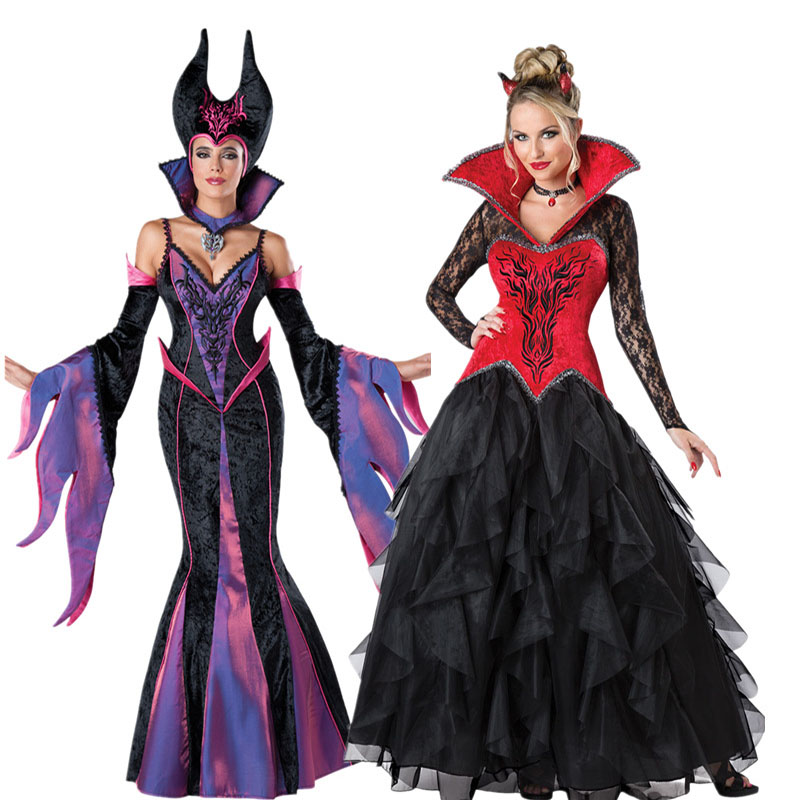 Thriller Movie Costumes Maleficent Cosplay Evil Witch Cosplay Fancy Dress Halloween Costume for Women image