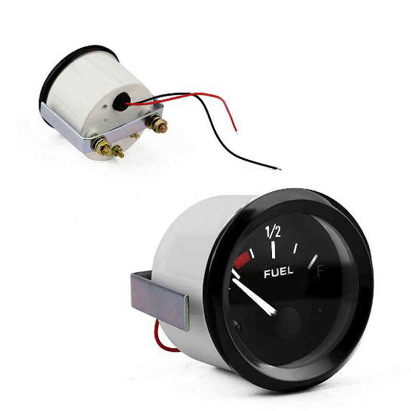 Anolog LED Oil Tank Fuel Level Gauge Indicator Car Boat ATV Universal 12V 24V 1x