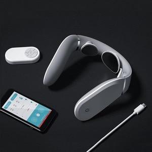 Image 3 - Masseur Cervical G2 dizaines Pulse protéger le cou seulement 190g Double effet compresse chaude en forme de L usure travail pour Mijia App
