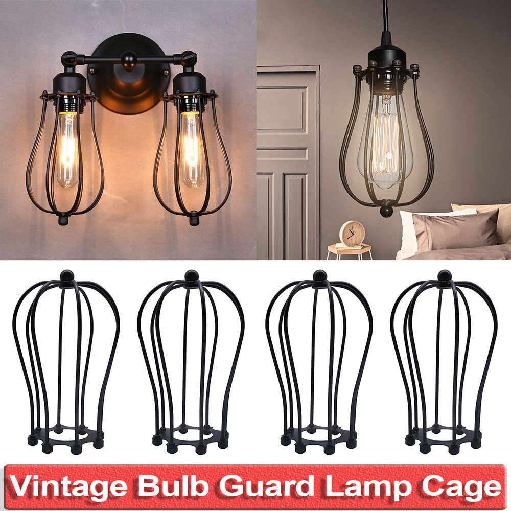 Vintage Lamp Shade Bulb Guard  DIY Lampshade Chandelier Cage  Industrial Style Living  Room Cafe Bars Decoration D25
