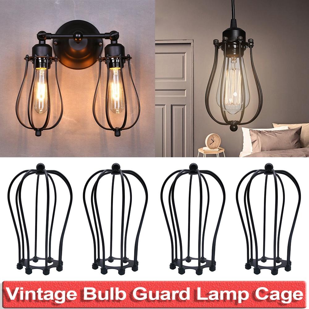 Vintage abat-jour ampoule garde bricolage abat-jour lustre Cage Style industriel salon café Bars décoration D25