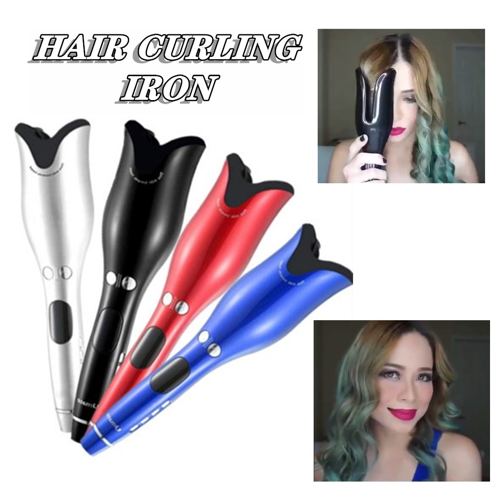Professional Hair Air Spin Curl 1 Inch Ceramic Rotating Electric Air Spin Hair Curlers Automatic Curling Iron For All Hair Types