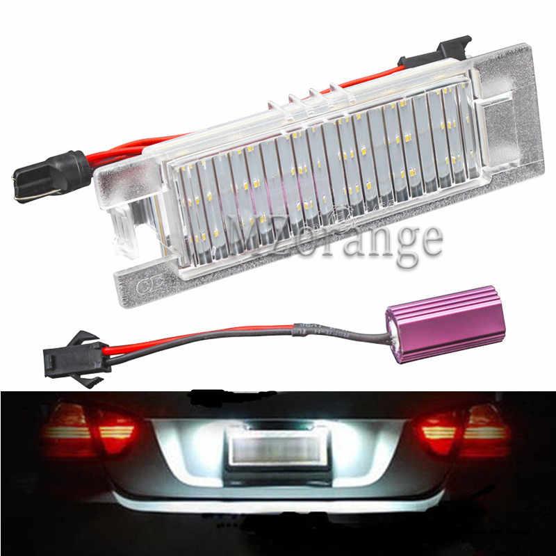 MZORANGE voiture plaque d'immatriculation LED lumières voiture accessoires extérieurs 2 pièces lampes pour Opel Astra H Corsa D Insignia Zafira B