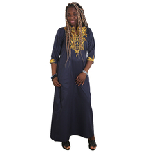 MD african dresses for women 2019 new africa clothes gold embroidery plus size dress wedding party ladies clothing