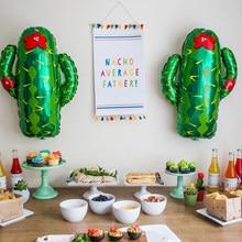 Ballons en forme de Cactus, décorations de fête tropicale d'été, en aluminium, à l'hélium