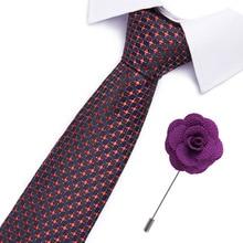 Drop shipping Slim Tie Set Men and brooch Necktie Cravate Papillon Man Corbatas Hombre Pajarita 7.5cm necktie set &
