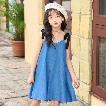 ¡Novedad de 2022! Vestido veraniego para niñas, Vestido con tirantes con personalidad para niños, vestido veraniego para la playa, Vestido vaquero para niñas, #9025 1