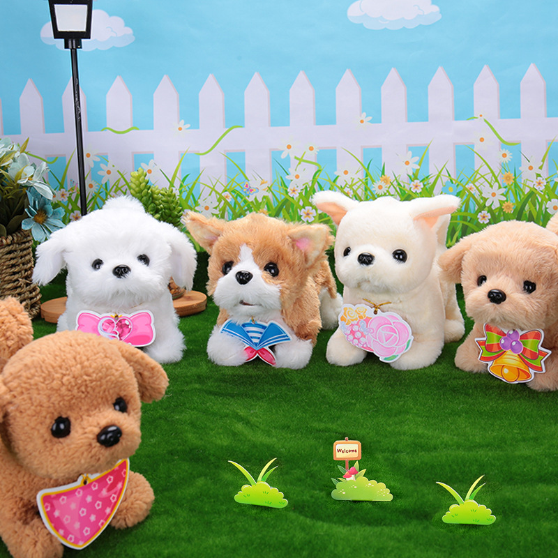 Children Electric Toy Dog Model Plush Teddy Will Call Will Walk Of Puppy Robot Dog GIRL'S And BOY'S Gift