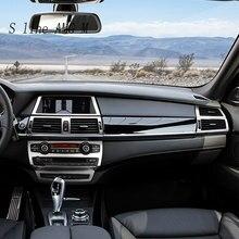 Decoración del panel de botones interiores del estilo del coche cubre pegatinas de ajuste para BMW x5 x6 e70 e71 accesorios de acero inoxidable para automóviles