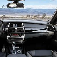 Estilo do carro interior do painel Botões quadro Decoração Covers Guarnição Adesivos Para BMW x5 x6 e70 e71 Auto Acessórios em aço inoxidável