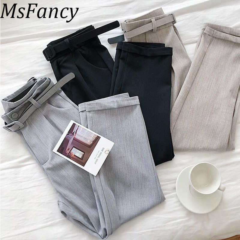 2019 Spring Women Office Lady Formal Trousers Korean Fashion Office Working Pants Pantalon Femme