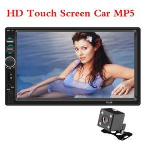 "LAMJAD 2 din Car Stereo 7"" HD Car Radio Bluetooth FM Audio MP5 Player 2din Autoradio Support Rear View Camera 7018B Radio Car"