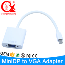 Mini DP to VGA Cable Adapter Thunderbolt DisplayPort Display Port Converter Adaptor For Apple Mac Pro Air Notebook