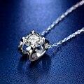 Синтетический бриллиант кулон ожерелье 0.5ct 1.0ct D Цвет квадратный 925 стерлингового серебра ожерелье для женщин, хорошее ювелирное изделие, по...