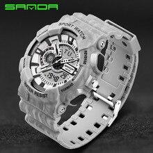 Мужские s часы SANDA модные часы мужские G Стиль военные водонепроницаемые ударные наручные часы Роскошные Аналоговые Цифровые спортивные часы