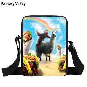 Image 4 - Komik llama baskı mini askılı çanta sevimli alpaka kadın çanta crossbody çanta küçük omuzdan askili çanta kitap çantası hediye