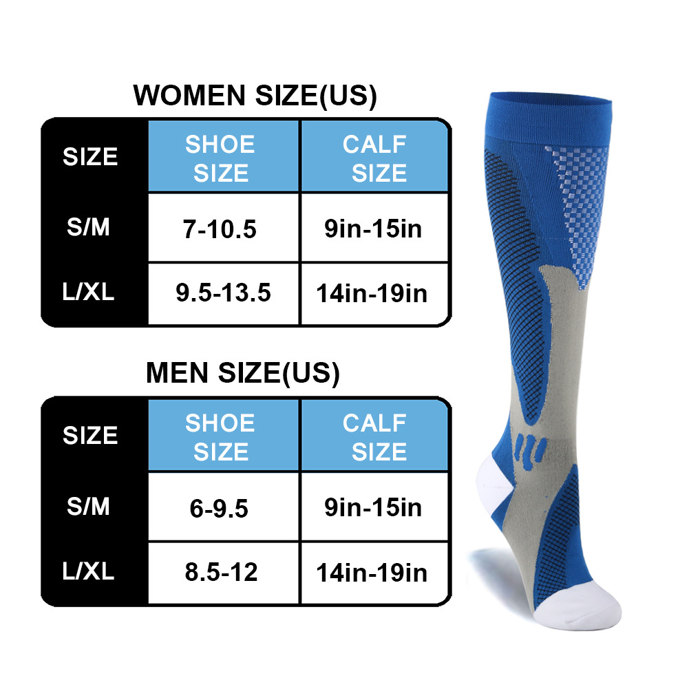 Brothock Compression Socks Nylon Medical Nursing Stockings Specializes Outdoor Cycling Fast-drying Breathable Adult Sports Socks 3