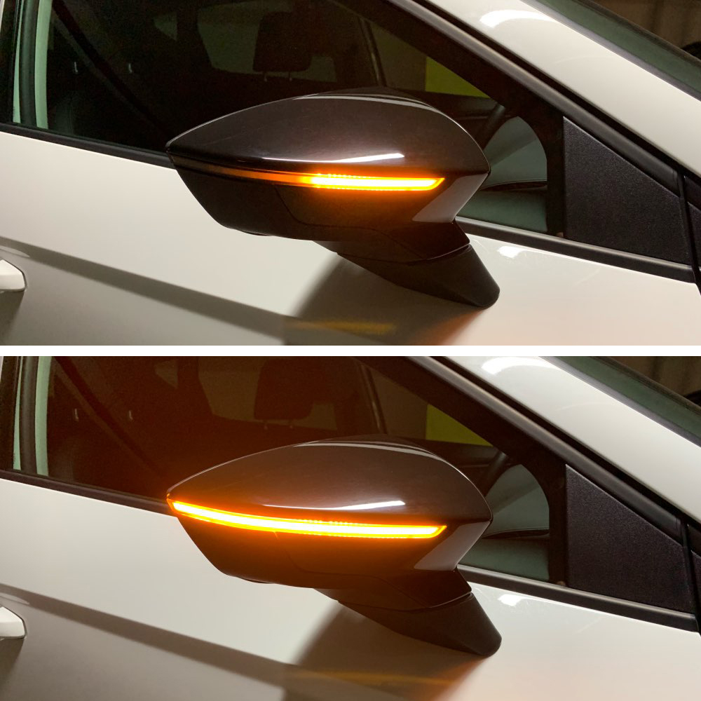 1Pair LED Dynamic Turn Signal Repeaters For SEAT LEON 3 III 5F ITV MOT Side Mirror Indicator Sequential Light