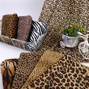 Tiger Leopard Striped Zebra Pattern Cloth Animal Print Short Plush Fabric For DIY Garment Toy Pillow Carpet Decorative Fabrics