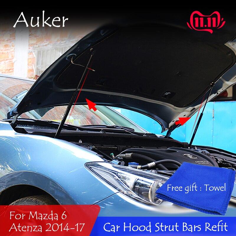 Передняя крышка капота двигателя гидравлический стержень, пружинный упор ударные прутки кронштейн для стайлинга автомобиля для Mazda 6 Mazda6 Atenza GJ/GL 2012 2020|Хромирование| | АлиЭкспресс