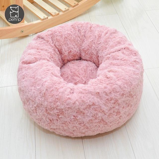 Фото круглая кровать для собаки длинные плюшевые кровати кошек теплые цена